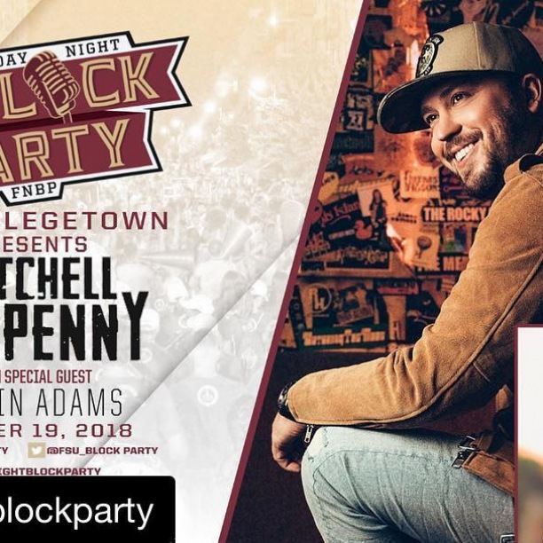 @m10penny is returning to the @fsu_blockparty THIS Friday for Homecoming weekend! See you #OnMadison for a good time