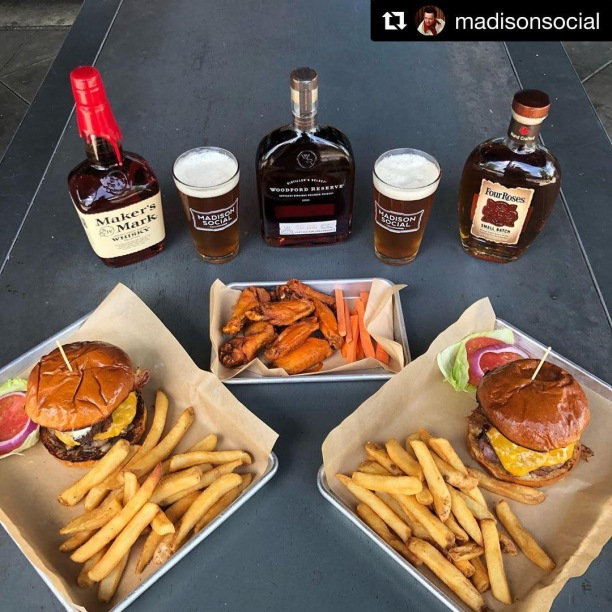 #Repost @madisonsocial ・・・ The Social Agreement. It's the best deal going in Tallahassee. Every Thursday, grab a friend, loved one or heck, even a rando and for $40 total ($20/person) enjoy all of this: — (1) Order of wings & 2 MadSo Burgers (2) Madison Soci-Ales (2) Bourbons