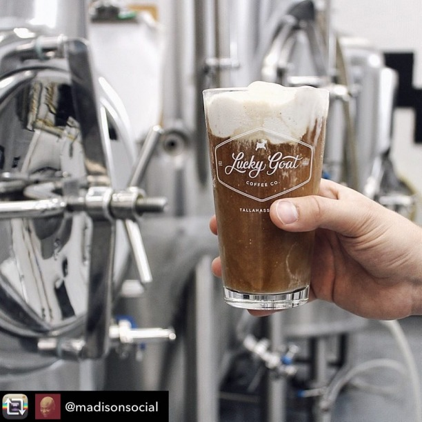 #Repost from @madisonsocial - 2nd Annual Tallahassee Coffee Festival is set for April 28 and @luckygoatcoffee is bringing Cold Brew Floats. REPEAT. COLD. BREW. FLOATS // TallahasseeCoffeeFestival.com