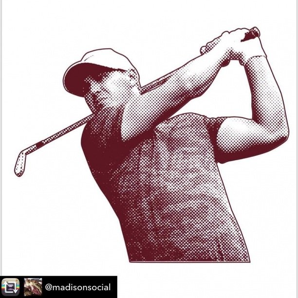 #Repost from @madisonsocial ⛳️ - As fellow Nole @bkoepka goes for his 4th major today, we have these pints available with any beer purchase (while supplies last). Come in after 2pm, watch a little PGA championship, order a beer, ask for the glass and enjoy.