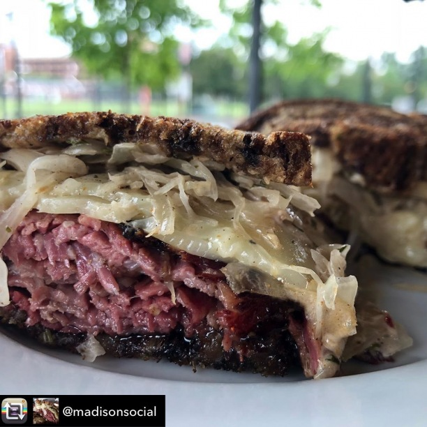 #Repost from @madisonsocial - ITS REUBEN DAY! This is not a drill folks. The most magical sandwich you'll eat is only available today, while supplies last.