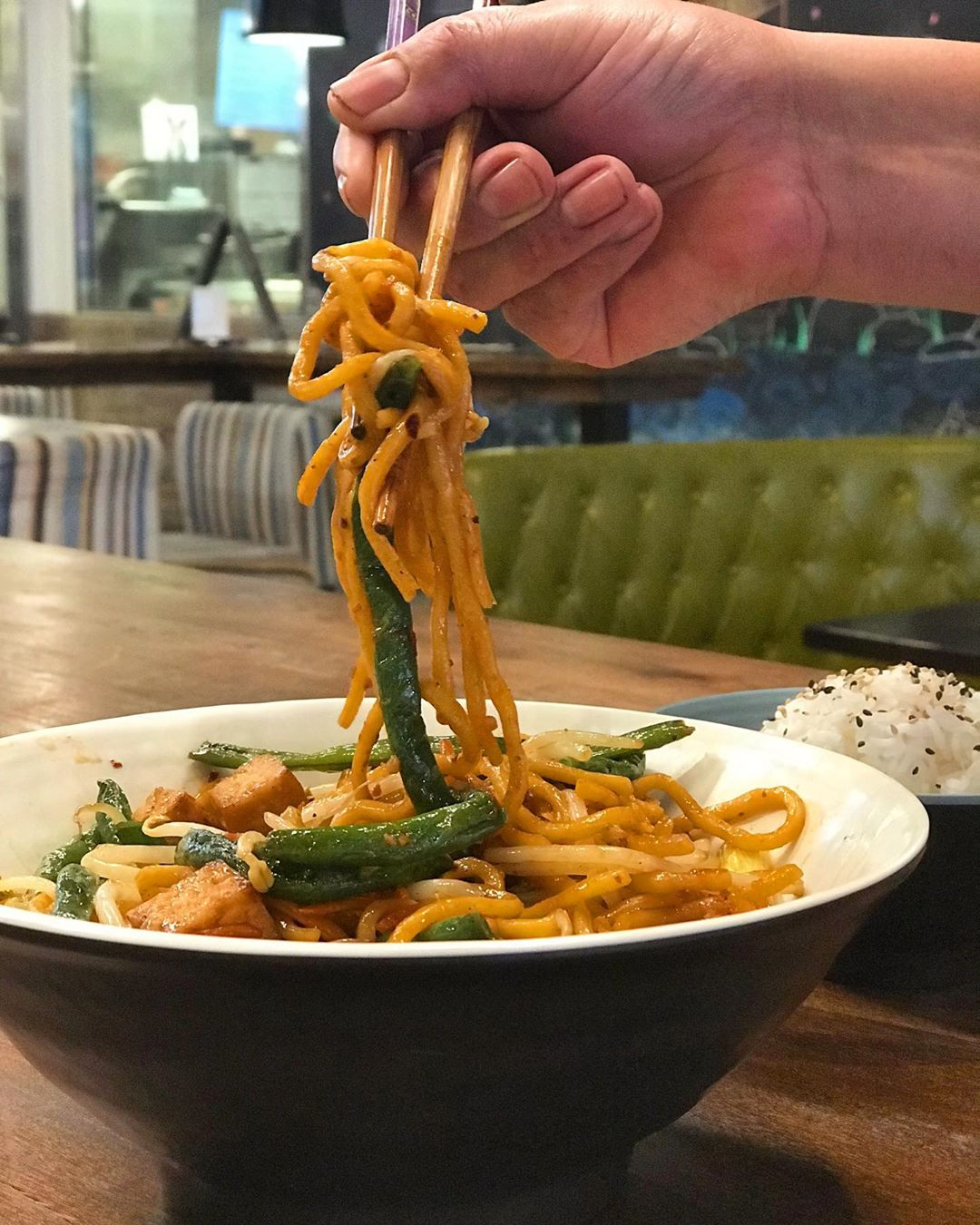 It's Wok Your Way Wednesday at @littlemasatally #OnMadison! Order any mouthwatering Wok Your Way dish and receive a complimentary additional veggie with your purchase. Little Masa is open from 12-9 p.m. everyday for call-in/take out orders and also offers F R E E delivery through @ubereats. Don't wait; support this delicious, local restaurant and order now!
